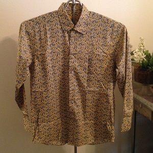 Men's Alan Flusser Paisley Print Shirt Sz M